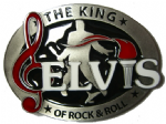 Elvis Officially Licensed Torch belt buckle + display stand. Code LC1